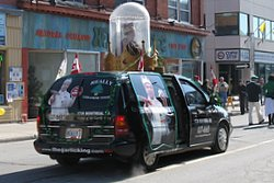 The Garlic King in the St. Patrick's Day Parade - yes you read that right. The finest in Lebanese-Irish cuisine.
