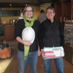 Coffeeshop manager Mia Eriksson and Bridgehead chain owner Tracey Clarke