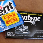 "The Trident ""More Flavour / Less Intense"" positioning statement - along with the ""Intense"" tag used by competitor Dentyne."
