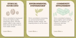 Starbucks - ethical - environmental - community